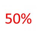 Voordeelaanbieding 50 procent