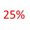 Voordeelaanbieding 25 procent