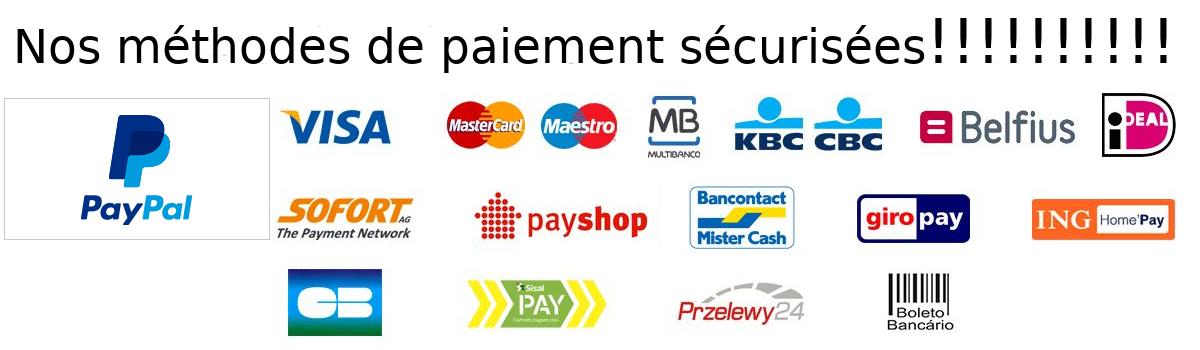 méthodes de paiement sécurisées